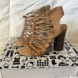 Bamboo Sandal Heels